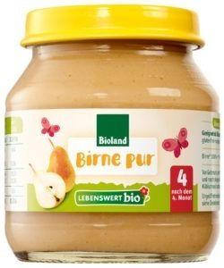 Lebenswert bio Birne pur 6x125g