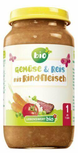 Lebenswert bio Gemüse & Reis mit Rindfleisch 6x250g