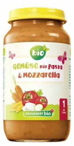 Lebenswert bio Gemüse mit Pasta & Mozzarella 6x250g