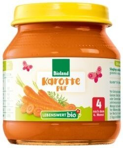 Lebenswert bio Karotte pur 6x125g