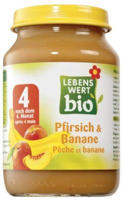 Lebenswert bio Pfirsich & Banane 6x190g