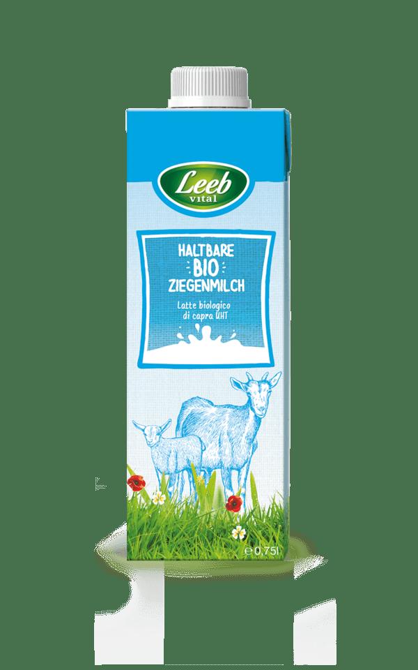 Leeb Vital Bio Ziegenmilch mit mind. 3% Fett, ultrahocherhitzt 750ml