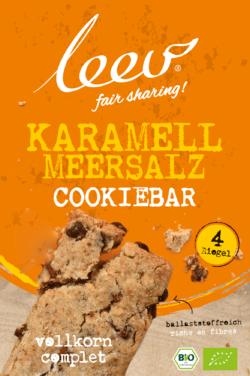 Leev biologische KARAMELL MEERSALZ cookiebar 8x140g