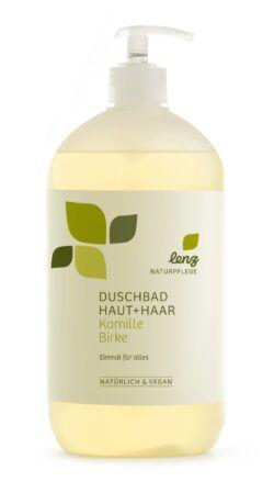 Lenz Naturpflege Duschbad Haut + Haar Kamille Birke 950ml