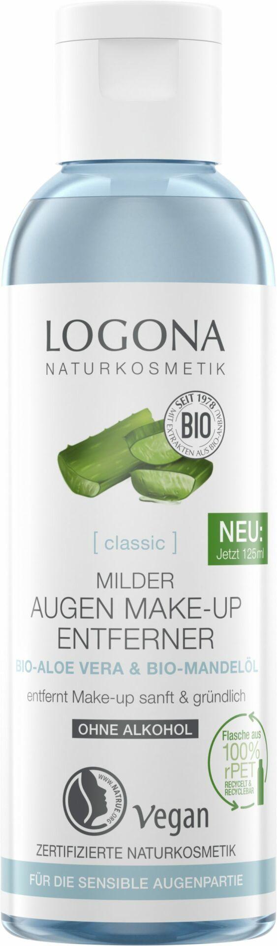 Logona CLASSIC Milder Augen Make-up Entferner Bio-Aloe Vera 125ml