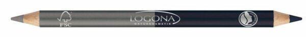 Logona Double Eyeliner Pencil 04 stee 1,38g