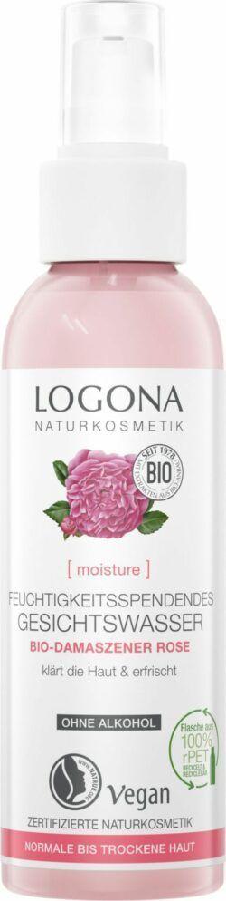 Logona MOISTURE Feuchtigkeitsspendendes Gesichtswasser Bio-Damaszener Rose 125ml