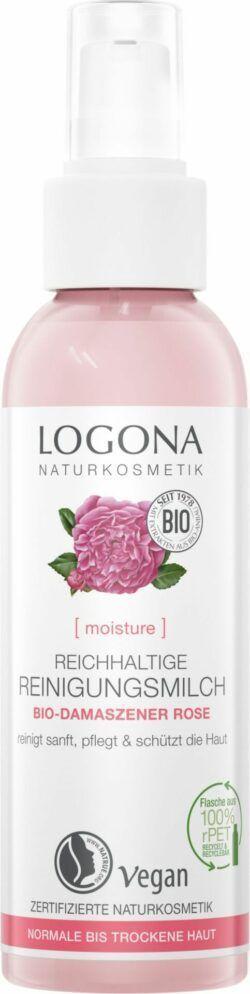 Logona MOISTURE Reichhaltige Reinigungsmilch Bio-Damaszener Rose 125ml