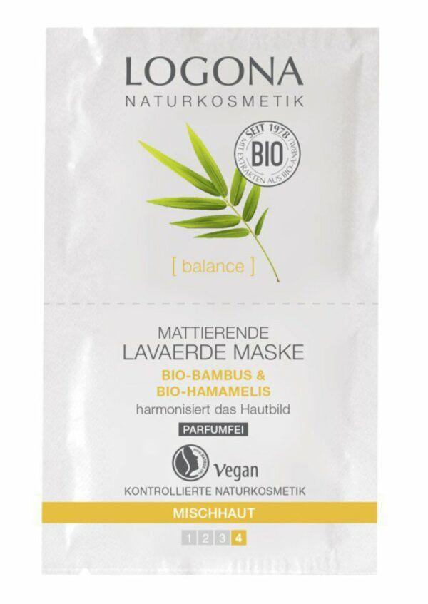 Logona Mattierende Lavaerde Maske 10x15ml