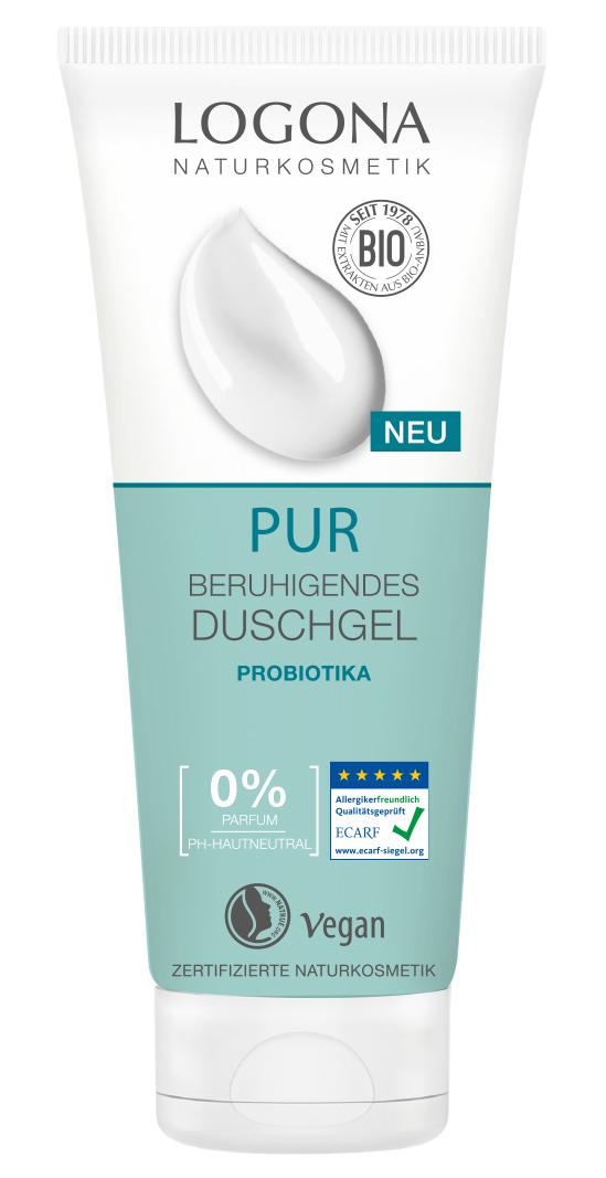 Logona PUR Beruhigendes Duschgel Probiotika 4x200ml