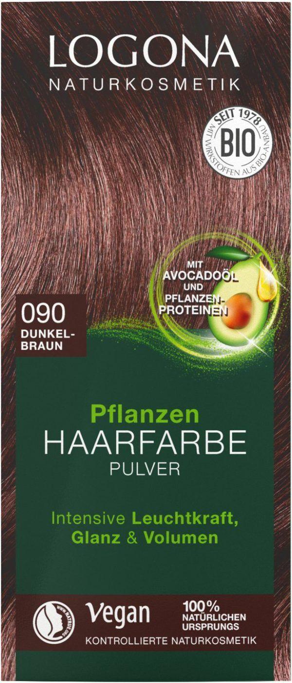 Logona Pflanzen Haarfarbe Pulver 090 dunkelbraun 100g