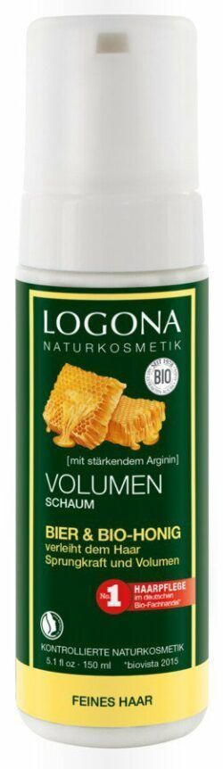 Logona Volumenschaum Bier & Bio-Honig 150ml