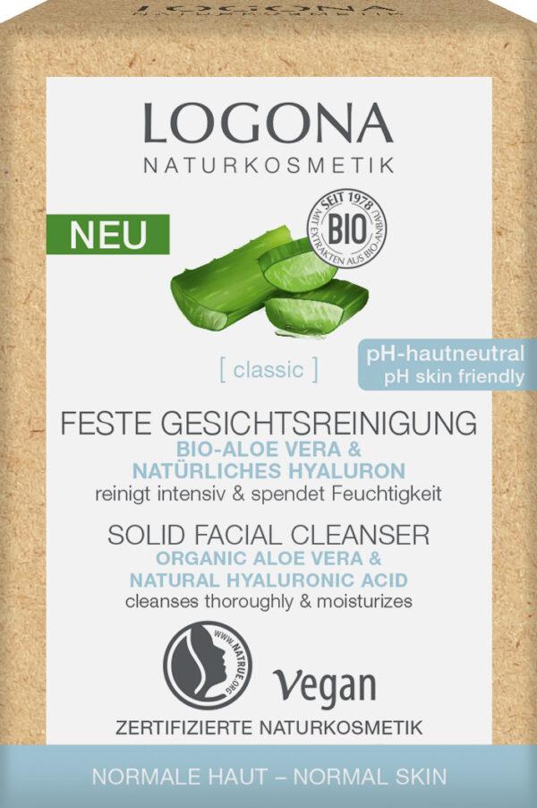 Logona [classic] Feste feuchtigkeitsspendende Gesichtsreinigung Bio-Aloe Vera & natürli 60g