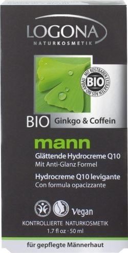 Logona mann glättende Hydrocreme Q10 Bio-Ginkgo & Bio-Coffein 50ml