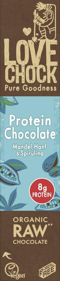 Lovechock B.V. Lovechock Riegel Protein Chocolate 82 % 12x40g