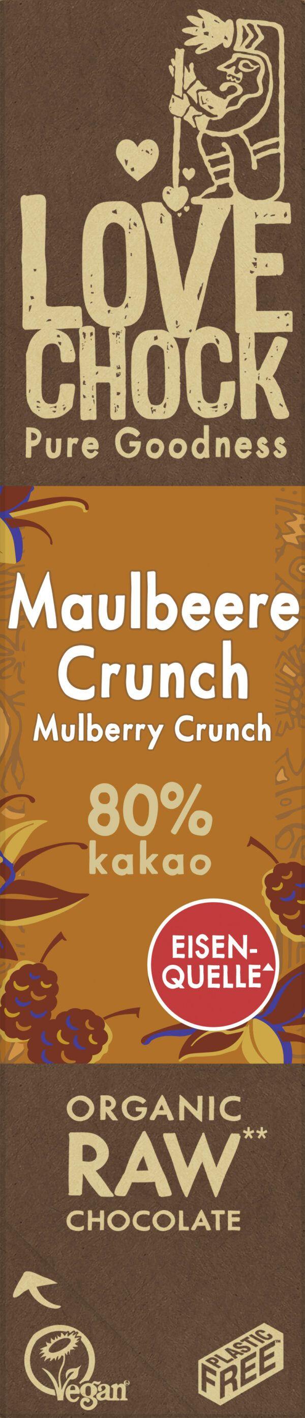 Lovechock B.V. Lovechock Riegel Maulbeere Crunch 80 % 40g