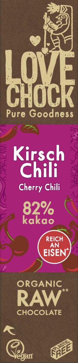 Lovechock B.V. Lovechock Riegel Kirsch Chili 82 % 12x40g