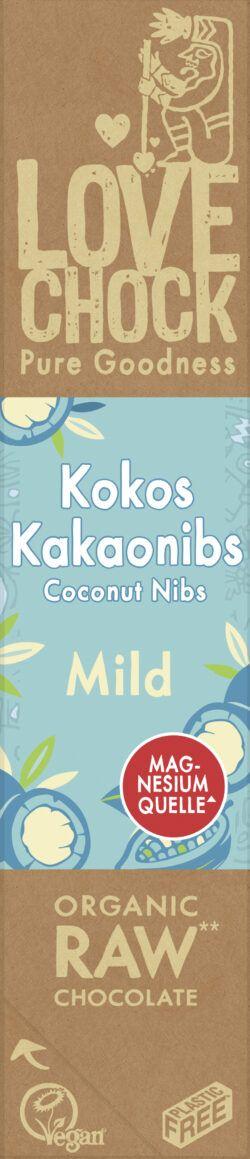Lovechock B.V. Lovechock Riegel Mild Kokos Kakaonibs 68 % 12x40g