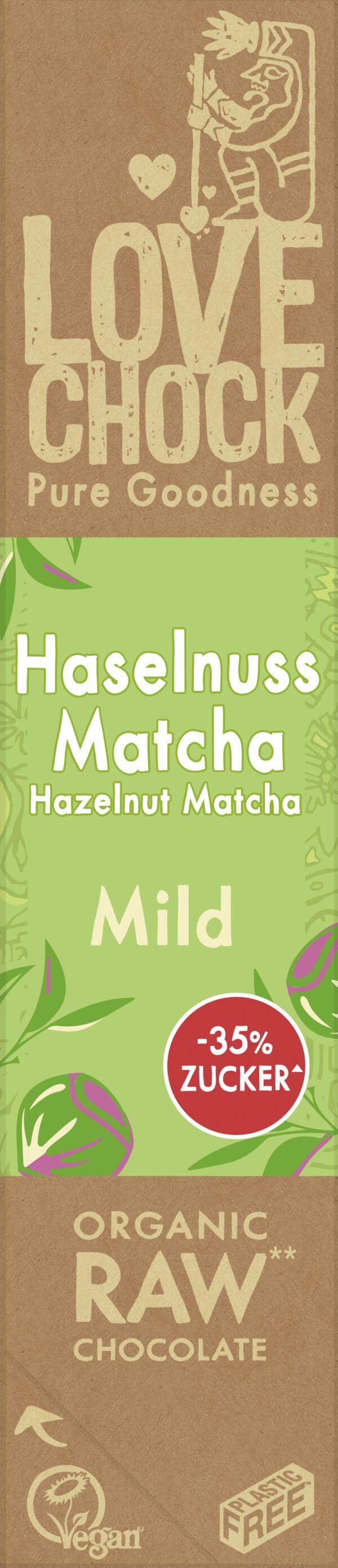 Lovechock B.V. Lovechock Riegel Mild Haselnuss Matcha 65 % 12x40g