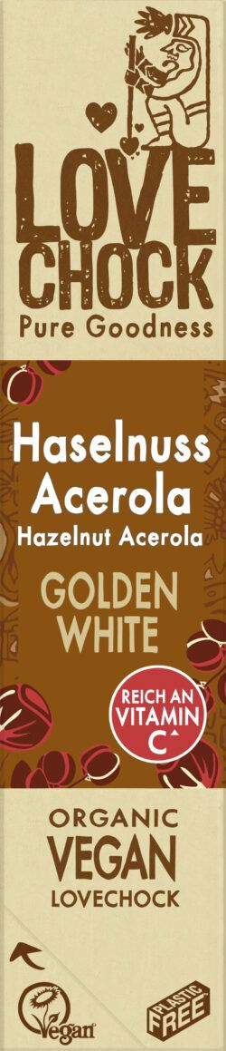 Lovechock B.V. Lovechock Riegel Golden White Haselnuss Acerola 12x40g