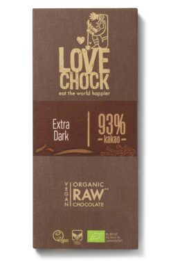 Lovechock B.V. Lovechock Tafel Extra Dark 93 % 8x70g