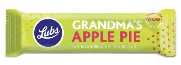 Lubs Grandma's Apple Pie Fruchtriegel, Bio, glutenfrei, vegan 24x39g