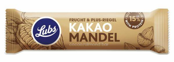 Lubs Kakao Mandel Protein Fruchtriegel, Bio, glutenfrei, vegan 24x38g