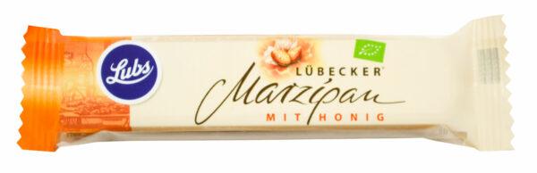 Lubs Lübecker Honig-Marzipan pur, Bio glutenfrei, laktosefrei 20x40g