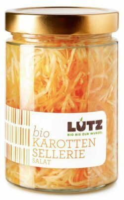 Lutz Karotten-Sellerie Salat | Bio-Einlegegemüse 9x580ml