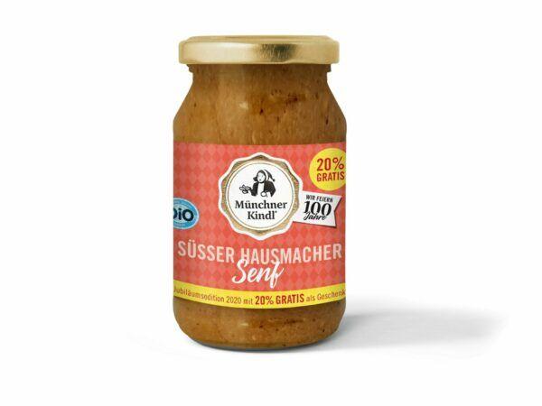 Münchner Kindl Senf Jubiläumssenf Süß Hausmacher Bio Münchner Kindl 6x250ml