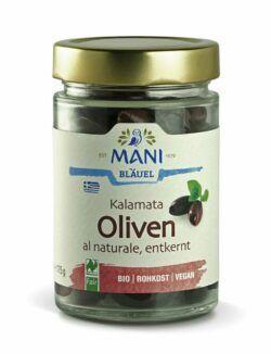 MANI® MANI Kalamata Oliven al naturale, entkernt, bio NL Fair 6x175g