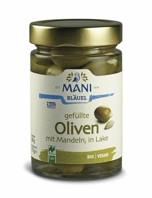 MANI® MANI Oliven gefüllt mit Mandeln, bio, NL Fair 6x280g