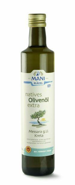 MANI® MANI natives Olivenöl extra, Messara g.U. Kreta, bio 6x500ml