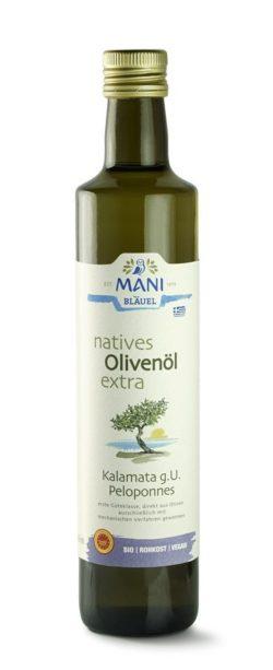 MANI® MANI natives Olivenöl extra, Kalamata g.U., bio 6x500ml