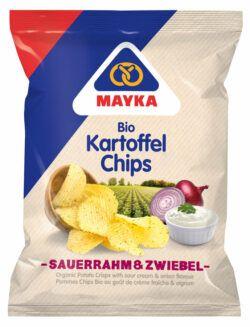 MAYKA Bio Kartoffelchips Sauerrahm & Zwiebel 8x70g