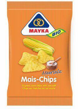 MAYKA Bio Mais-Chips Natur mit Meersalz 10x125g