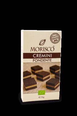 MORISCO Cremini dunkel 75 g Nougat Schicht mit Zartbitterschokolade 6x75g