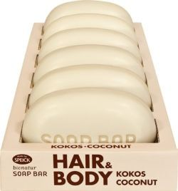 Made by Speick Bionatur Soap Bar Hair + Body Seife Kokos 6x125g