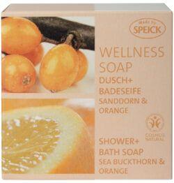 Made by Speick Wellness Soap, Dusch- und Badeseife Sanddorn & Orange 200g
