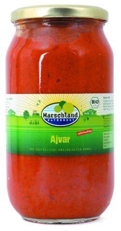 Marschland  Bio-Ajvar mild 1.000 ml Gl. MARSCHLAND 980g