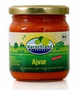 Marschland Bio-Ajvar mild 210 ml Gl. MARSCHLAND 6x200g