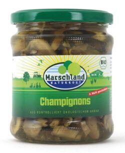 Marschland  Bio-Champignons 2. Wahl geschnitten 370 ml MARSCHLAND 6x330g