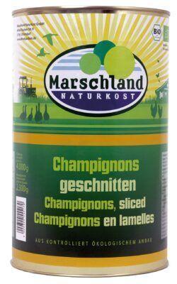 Marschland  Bio-Champignons geschnitten 4.250 ml Ds. MARSCHLAND 4000g