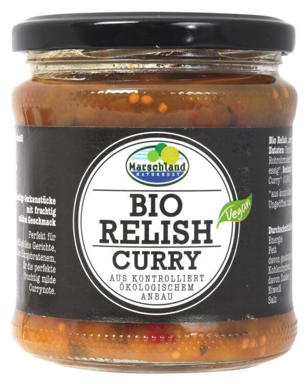Marschland  Bio-Gurken-Relish Curry 370 ml Gl. MARSCHLAND 6x325g