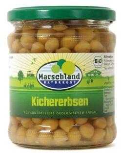 Marschland  Bio-Kichererbsen 370 ml Gl. MARSCHLAND 6x330g