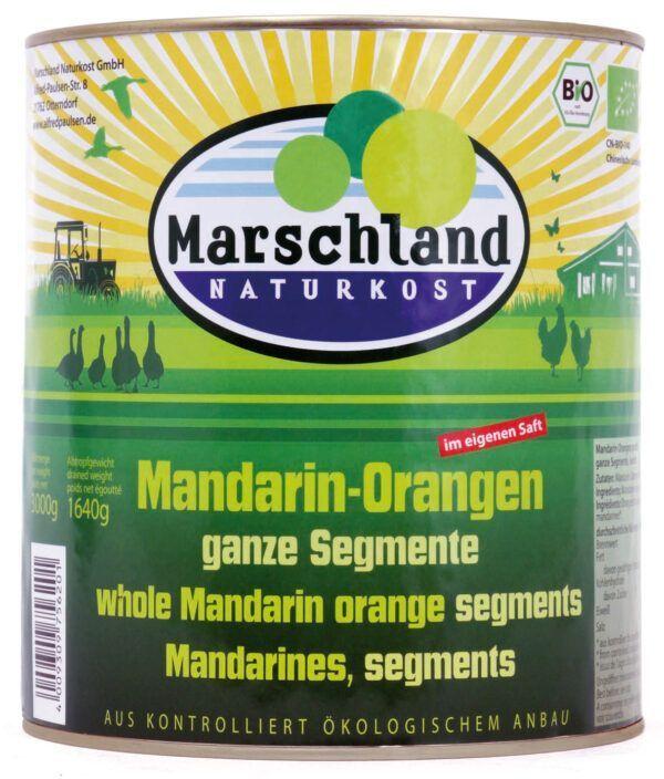 Marschland Bio-Mandarin-Orangen 3.100 ml Ds. MARSCHLAND 6x3000g