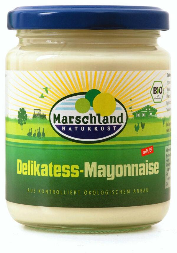 Marschland  Bio-Mayonnaise 80% Fett 275 ml Gl. MARSCHLAND 250ml