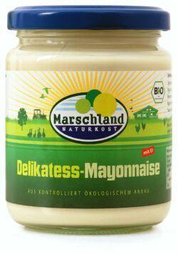 Marschland  Bio-Mayonnaise 80% Fett 275 ml Gl. MARSCHLAND 6x250ml