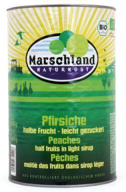 Marschland Bio-Pfirsiche, halbe Früchte 4.250 ml Ds. MARSCHLAND 4200g