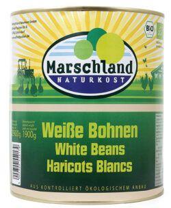 Marschland Bio-Weiße Bohnen 3.100 ml Ds. MARSCHLAND 2900g